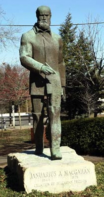 Statue of MacGahan, New Lexington, OH