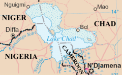 Lake Chad map
