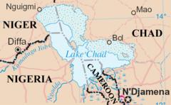 Lake Chad map