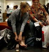 women shoe shopping