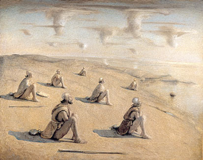 """Wanderers at the Beach""  Odd Nerdrum"