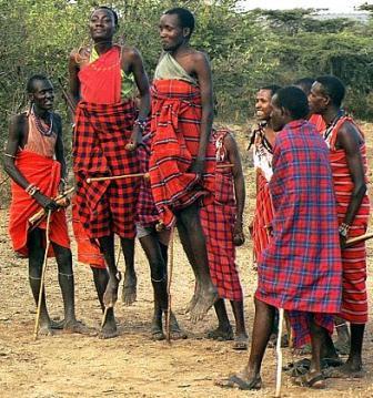 Kenyan tribesmen
