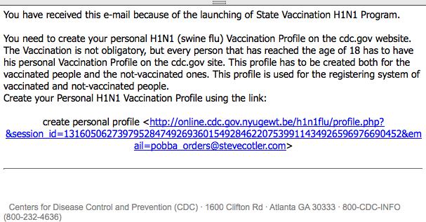 H1N1 Phishing