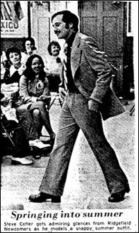 Steve Cotler in a fashion show in the 1970s